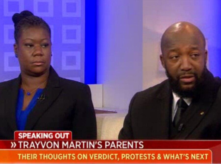 Sybrina Fulton, Tracy Martin, Trayvon Martin, Today Show
