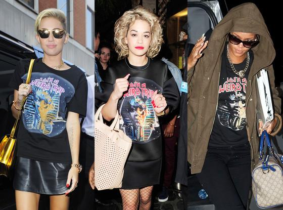 Miley Cyrus, Rita Ora, Rihanna, Balenciaga