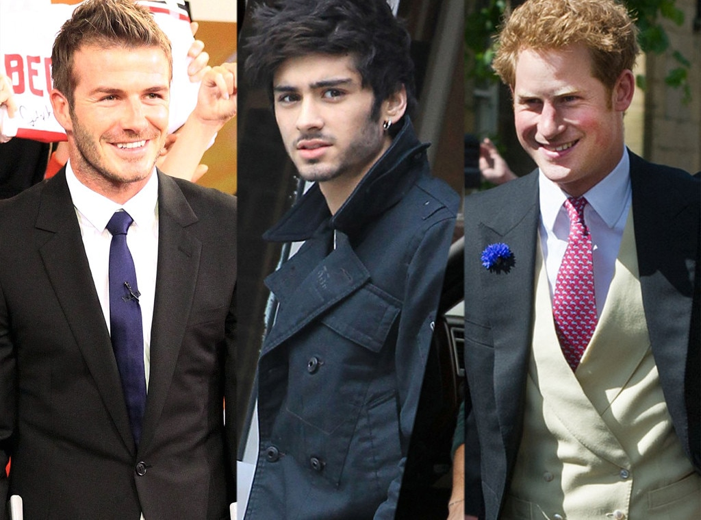 David Beckham, Zayne Malik, Prince Harry