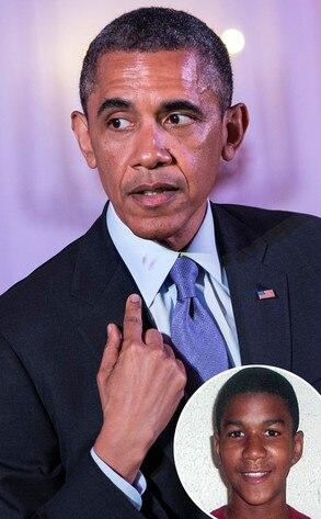 Barack Obama, Trayvon MArtin