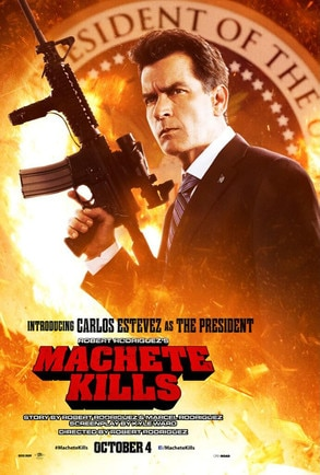 Charlie Sheen, Carlos Estevez,, Machete Kills