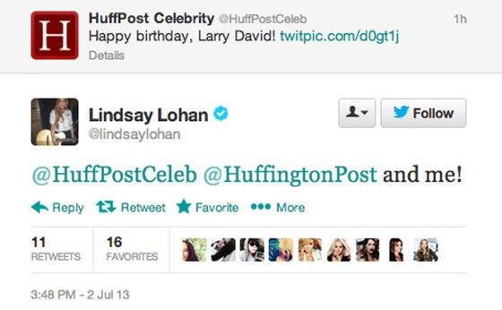 Lindsay Lohan, Tweet
