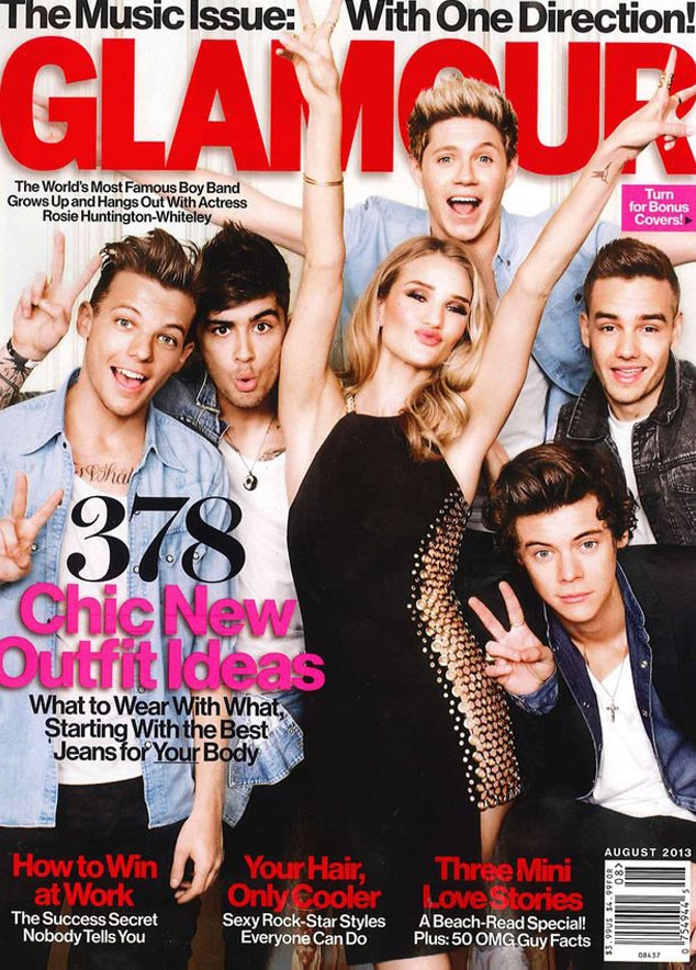 Glamour, Rosie Huntington-Whiteley, One Direction