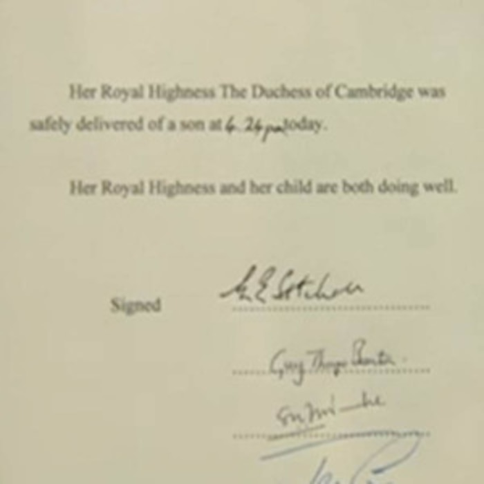 Royal Baby Easel Announcement