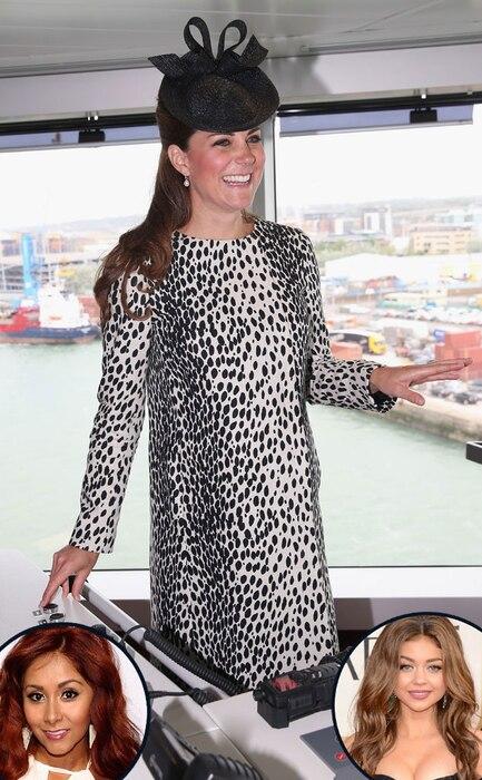 Kate Middleton, Catherine, Duchess of Cambridge, SNooki, Sarah Hyland