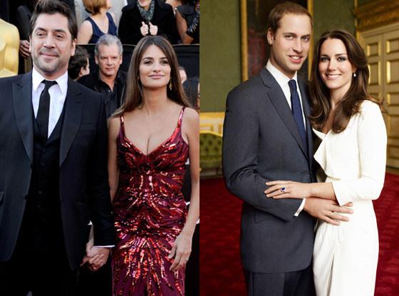 Javier Bardem, Penelope Cruz, Kate Middleton, Prince William