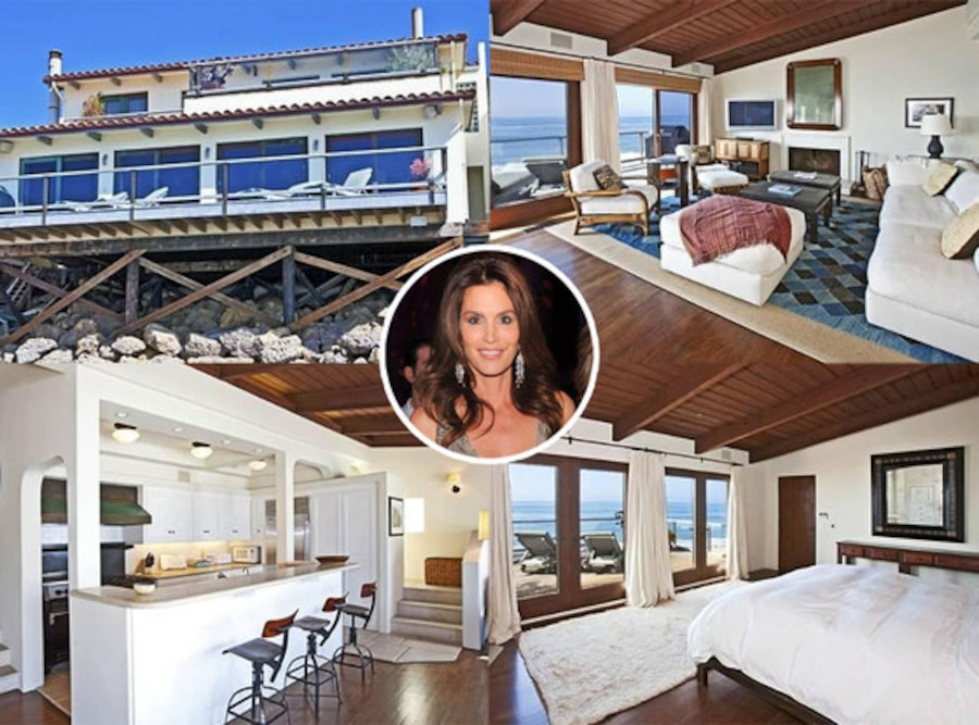 Cindy crawford lists malibu beach pad for rent look inside for Malibu mansions for rent