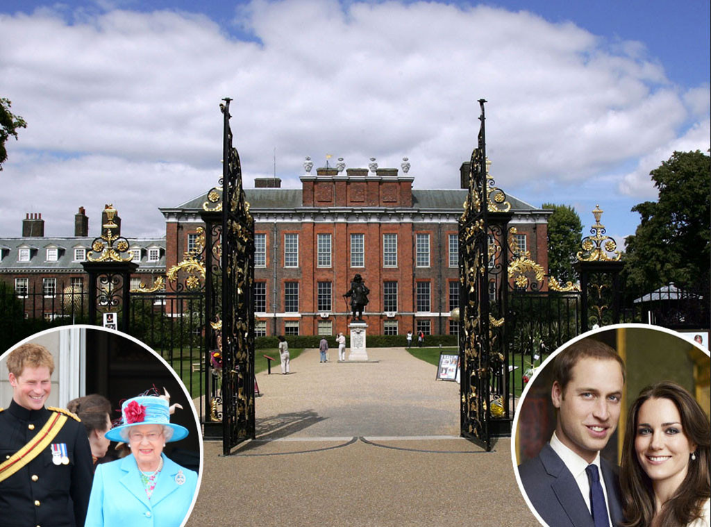 Kensington Palace, Queen Elizabeth, Prince Harry, Prince William, Kate Middleton