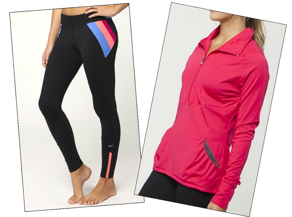 Fitness Gear, O'Neill Gidget Legging & Hot Pink Zip