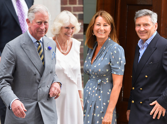 Prince Charles, Prince of Wales, Camilla, Duchess of Cornwall, Michael Middleton, Carole Middleton