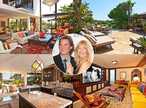 Goldie Hawn, Kurt Russell, Malibu Home