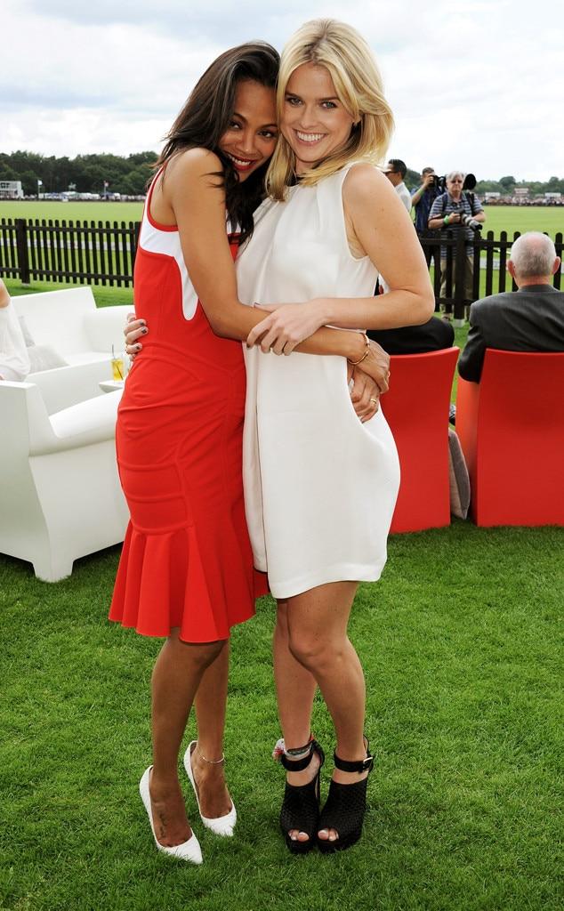 Zoe Saldana, Alice Eve