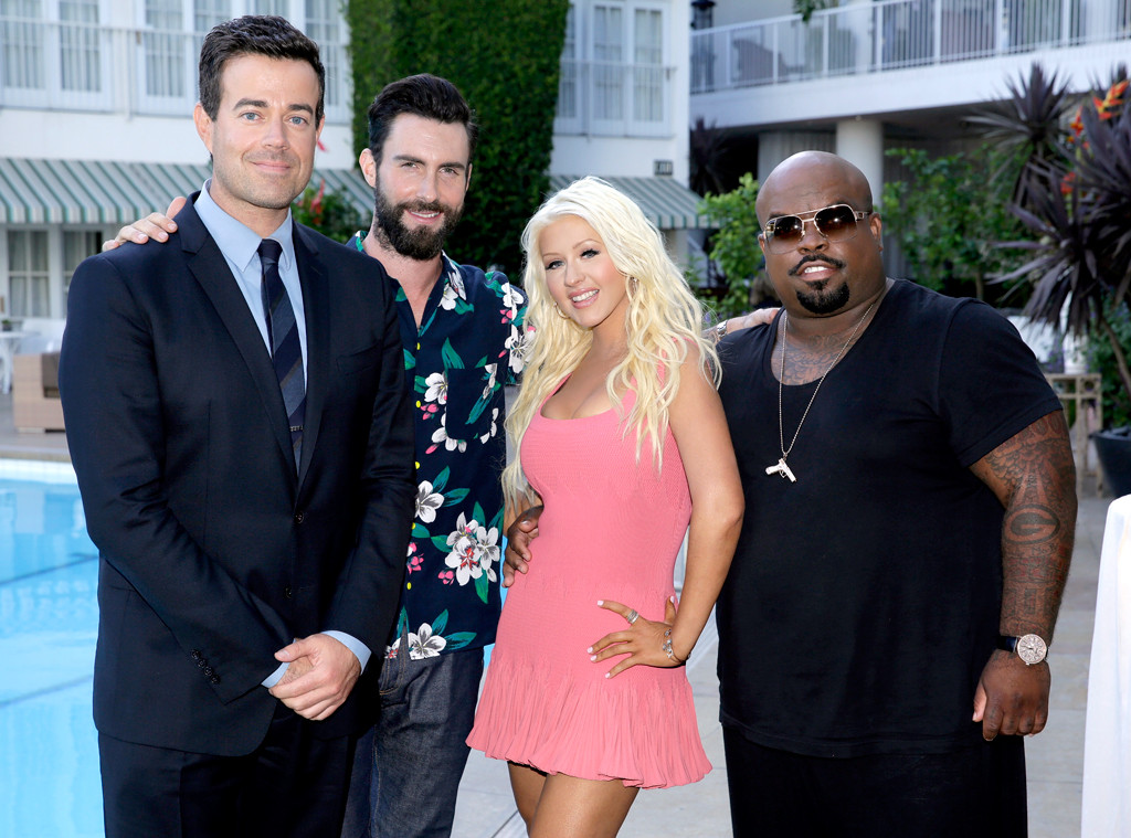 NBC Press Tour, Carson Daly, Adam Levine, Christina Aguilera, CeeLo Green, The Voice