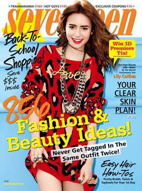 Lily Collins, Seventeen Magazin