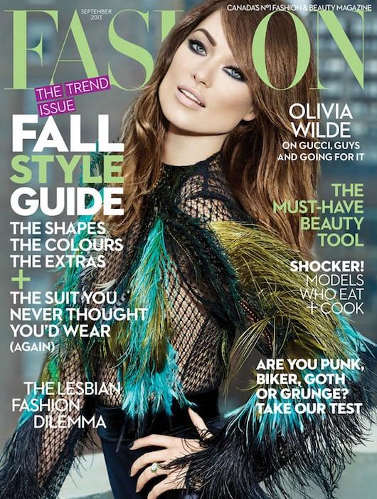 Olivia Wilde, Fashion Magazine