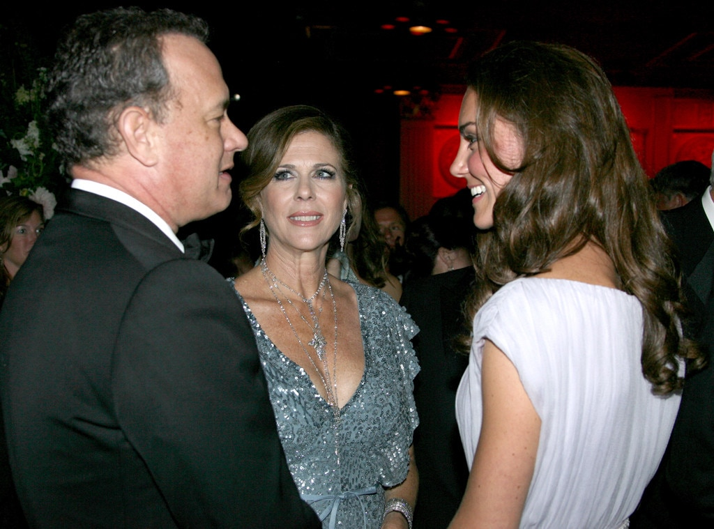 Catherine, Duchess of Cambridge, Tom Hanks, Rita Wilson