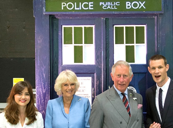 Camilla, Duchess of Cornwall, Prince Charles, Jenna-Louise Coleman, Matt Smith