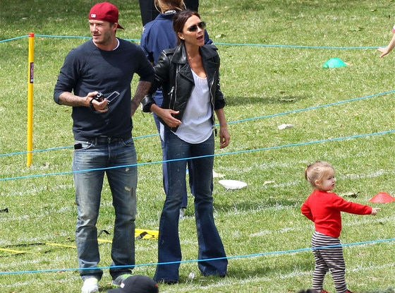 David Beckham, Victoria Beckham, Harper Beckham