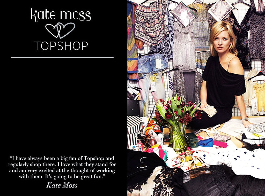Kate Moss, Topshop, Celebrity Collaborations
