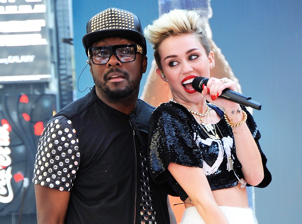 Miley Cyrus, Will.I.Am, Celebrity Collaborations