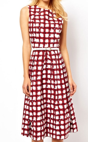 ASOS Skater Check Dress