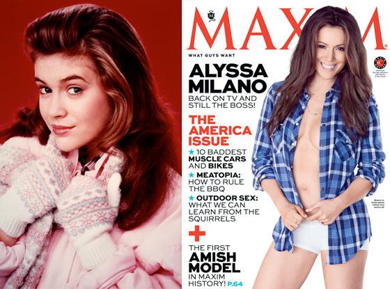 Alyssa Milano, Who's the Boss, Maxim