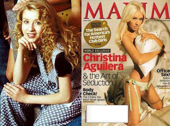 Christina Aguilera, The Mickey Mouse Club, Maxim