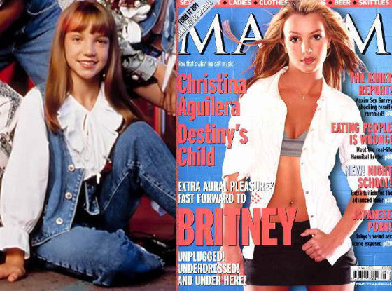 Britney Spears, The Mickey Mouse Club, Maxim