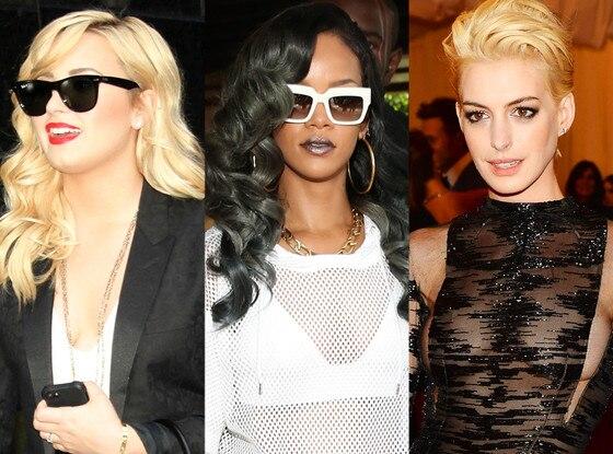 Demi Lovato, Rihanna, Anne Hathaway, Hair