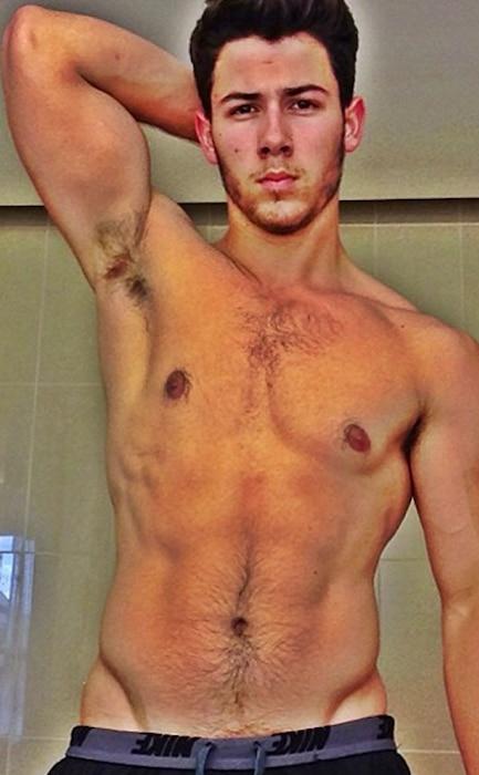 Nick Jonas, Shirtless, Instagram