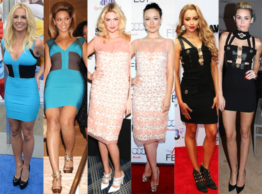 Britney Spears, Beyonce, Kate Upton, Olivia Wilde, Kat Graham, Miley Cyrus