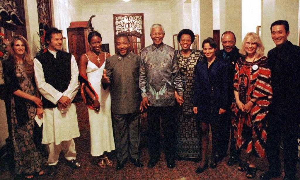 Naomi Campbell, Charles Taylor, Nelson Mandela, Quincy Jones, Mia Farrow