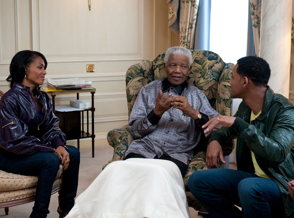 Nelson Mandela, Will Smith, Jada Pinkett Smith