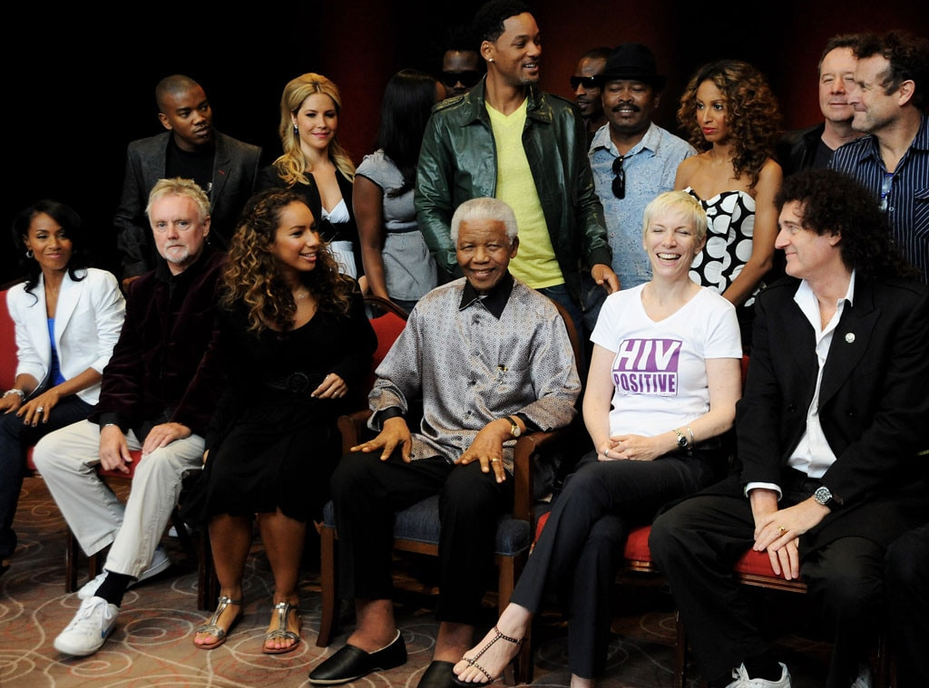 Nelson Mandela, Leona Lewis, Annie Lennox, Brian May, Paul Rodgers, Will Smith