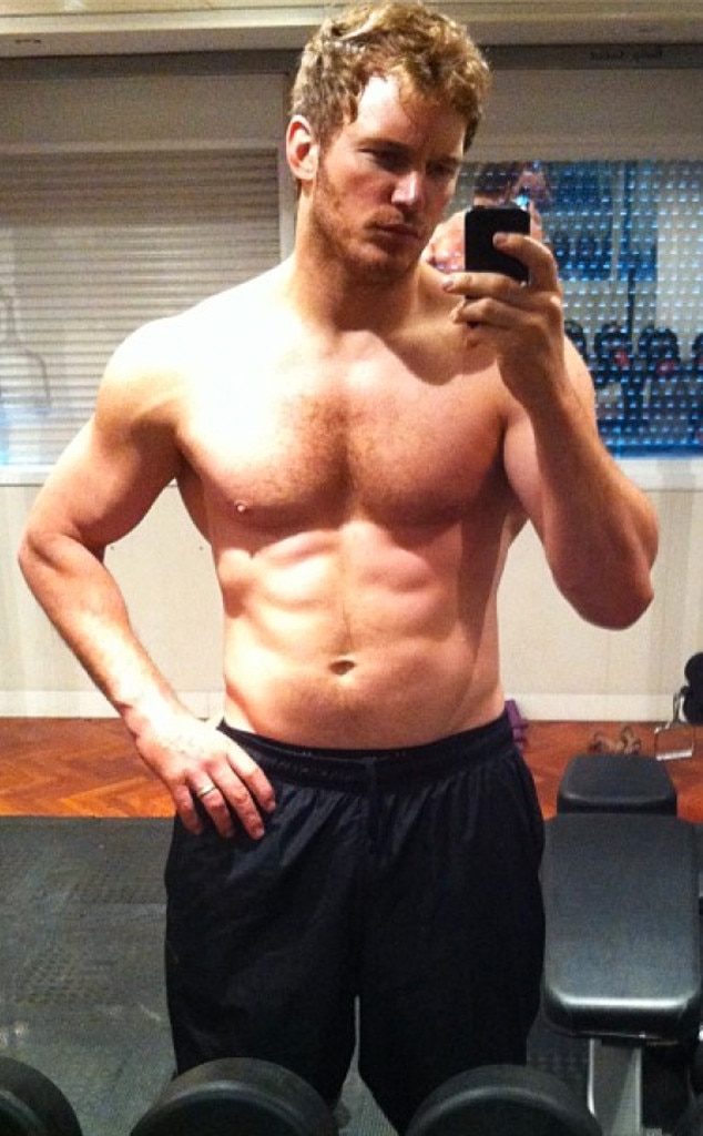 Chris Pratt, Shirtless