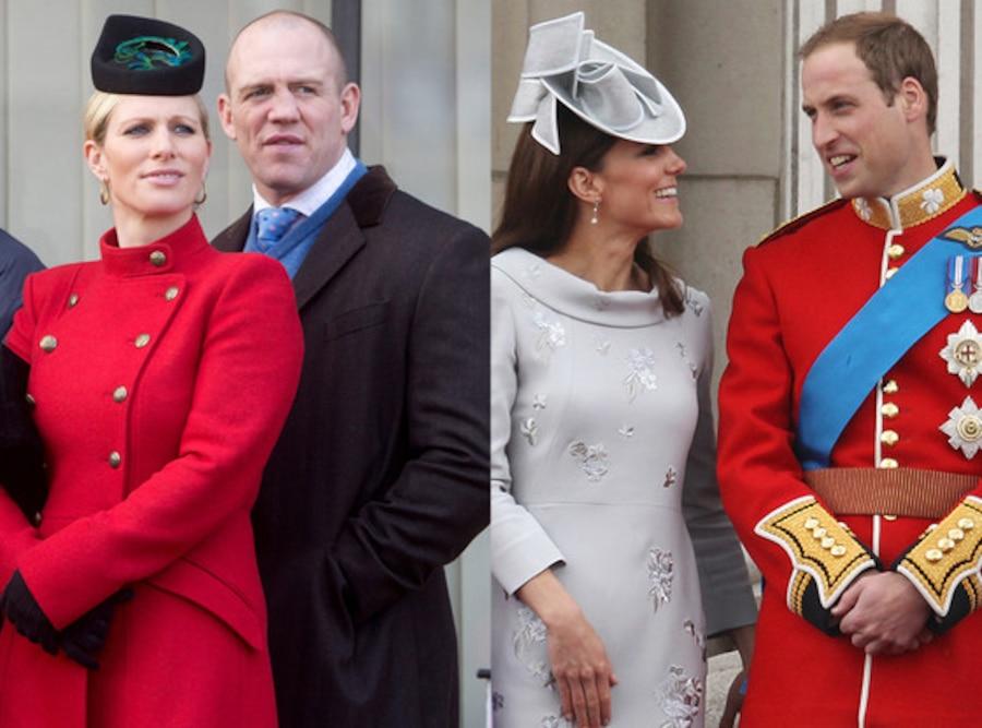 Zara Phillips, Mike Tindall, Duchess Catherine, Kate Middleton, Prince William