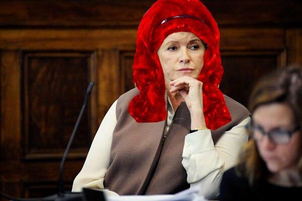 Martha Stewart w/ Wig