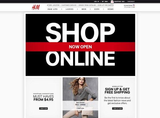 H&M, US Shop Online