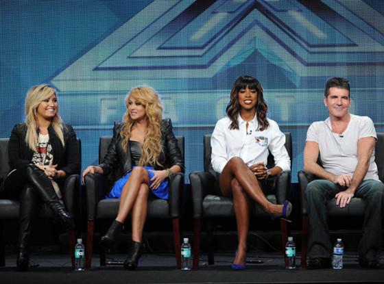 Demi Lovato, Paulina Rubio, Kelly Rowland, Simon Cowell, TCA