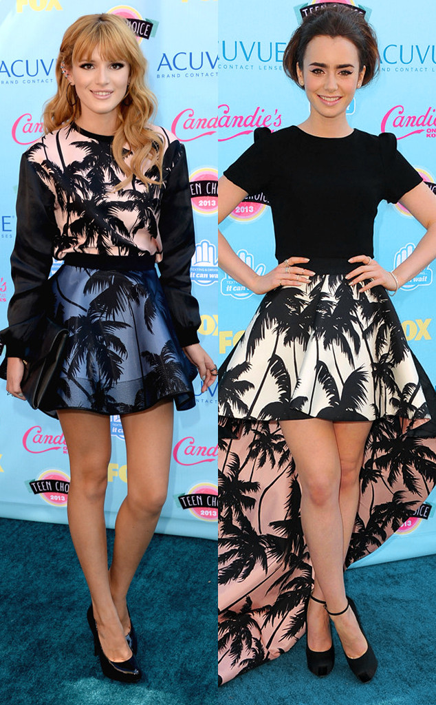 Bella Thorne, Lily Collins, Teen Choice Awards