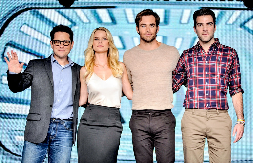 J.J. Abrams, Alice Eve, Chris Pine, Zachary Quinto