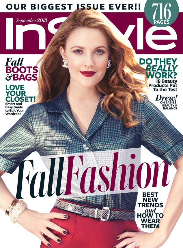 Drew Barrymore, InsStyle Magazine Cover