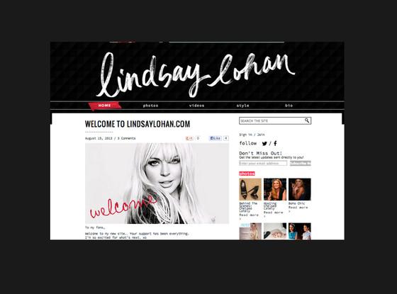 Lindsay Lohan, Website