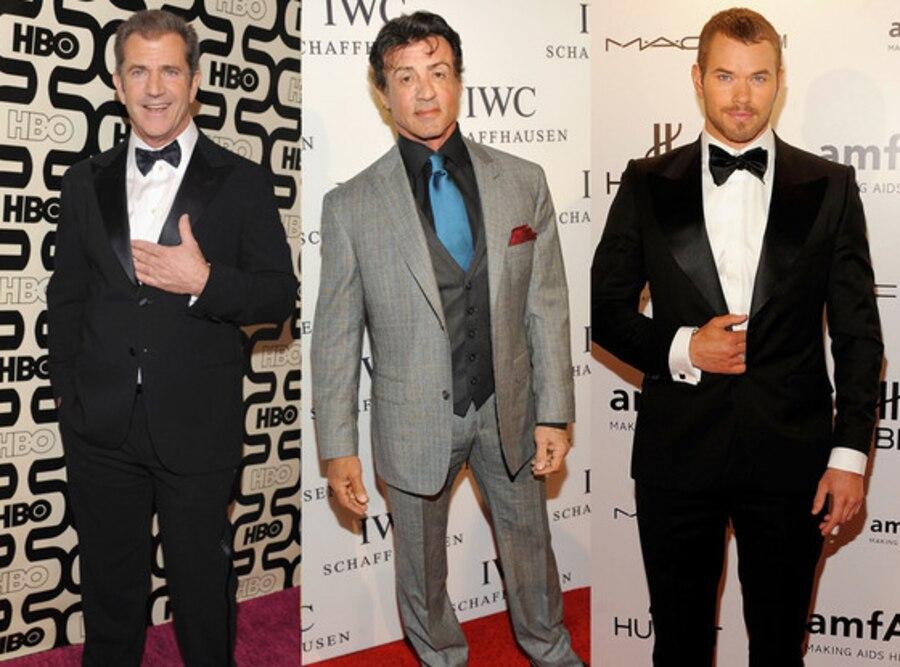 Mel Gibson, Sylvester Stallone, Kellan Lutz