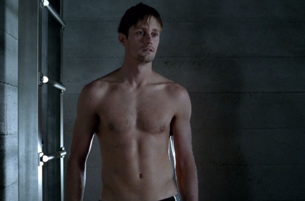 Alexander Skarsgard, True Blood, Shirtless
