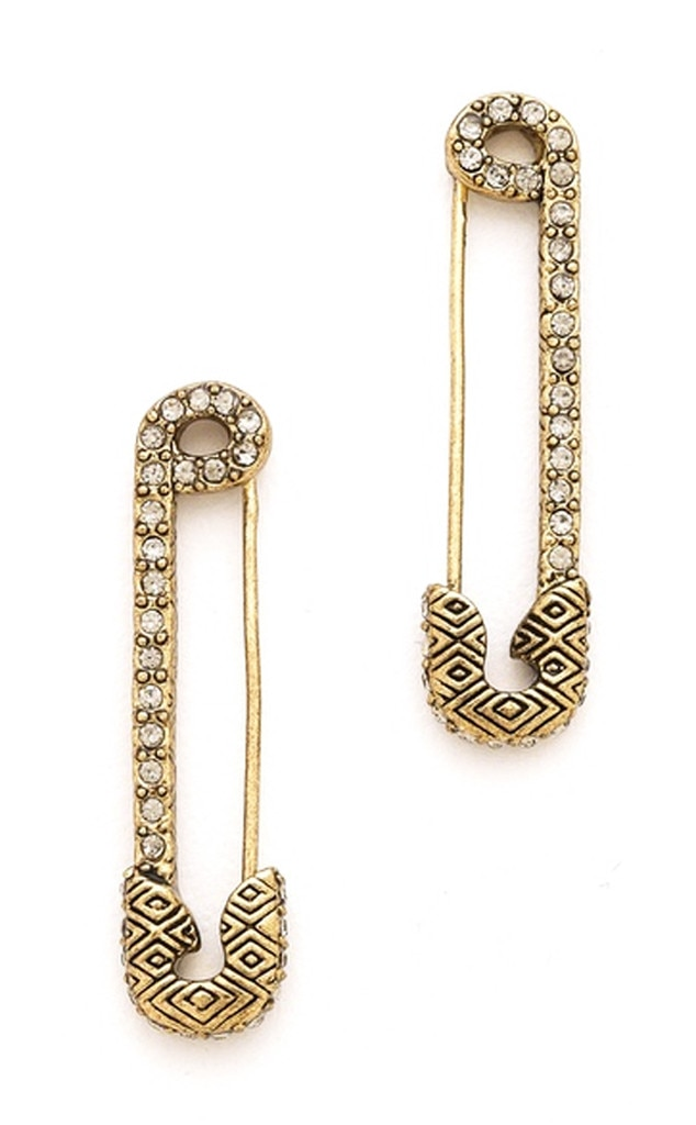 Punk Grunge Trend, House of Harlow Safety Pin Earrings