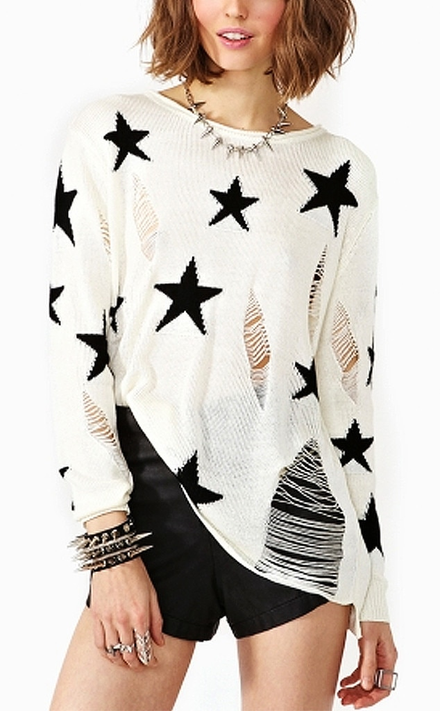 Punk Grunge Trend, Nasty Gal Star Sweater