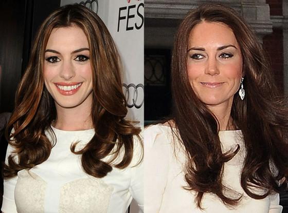 Anne Hathaway, Kate Middleton