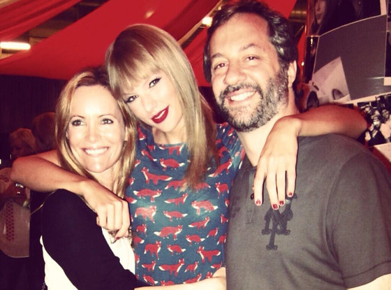 Leslie Mann, Taylor Swift, Judd Apatow, Twit Pic