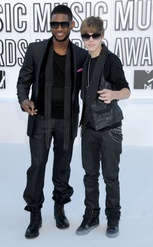 Usher, Justin Bieber,  Memorable VMA Fashion